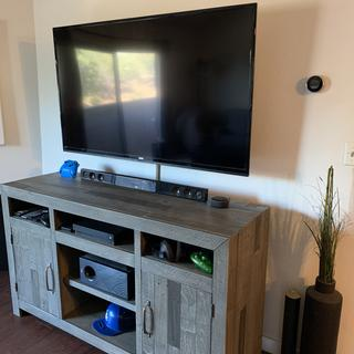 Great TV stand, definitely recommend this product to anyone in the market for a new stand.