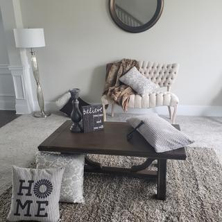 Lopez Family Room. We love our coffee table!