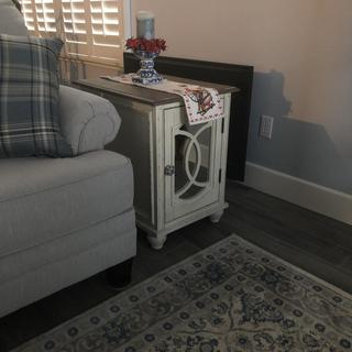 Easy to put together, and I did it all by myself.  Love it, goes great with my livingroom.