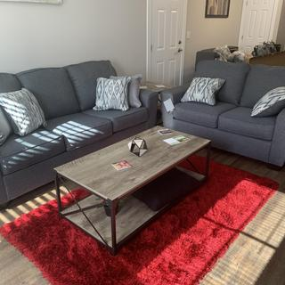 Absolutely love my new calion sofa and loveseat!  The blue-grey color is perfect!