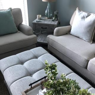 Looks great with matching ottoman/coffee table