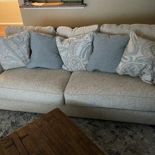 Sofa from the front