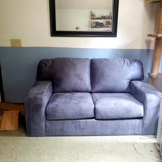 Pic doesn't do it justice, but I adore my new love seat! Ordered the matching ottoman today!