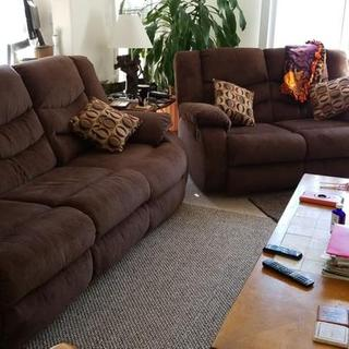 Both sofa and loveseat