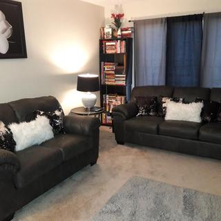 Charcoal Bladen Sofa and Loveseat