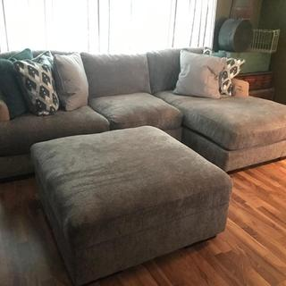 Couch (arms have arm rest covers on them)