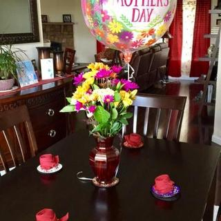 I bought the dining set just in time for Mother's day, and my mother loved it.