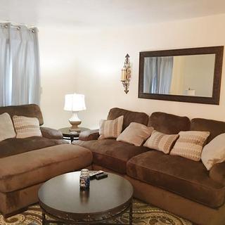 2 sofa's and ottoman