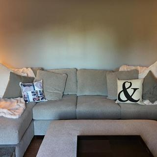New couch set with ottoman