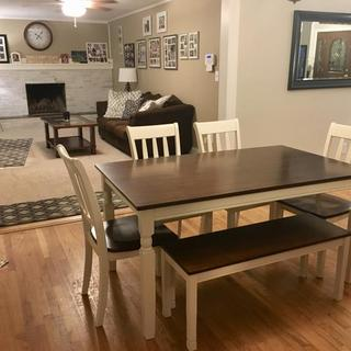Perfect table for open floor plan