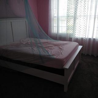 Before she added her new comforter set