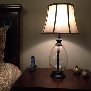 Olivia lamp also with Ashley Porter bed.