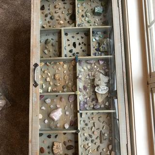 Rocks, fossils, and gems