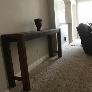 As an accent table in living room.