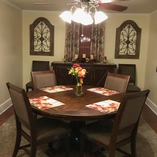 Our beautiful new dining room set!