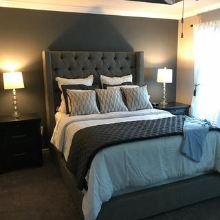 Our new bedroom! Thanks Ashley...