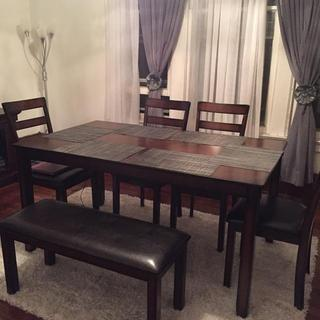 I'm in love with my new dining room set exactly what I want! The service was excellent!
