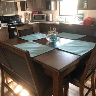 Meredy Counter Height Dining Table And Bar Stools Set Of 5 Ashley Furniture Homestore