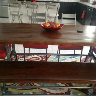 We love the bench with our table!