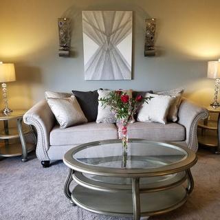 Lemoore Sofa w/ Corolayne Sofa Tables