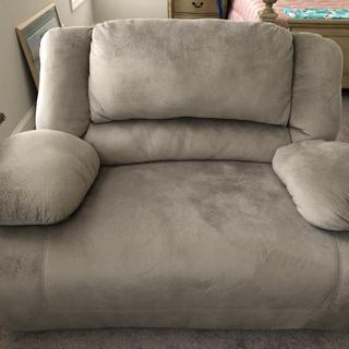 Beautiful chair! So soft!