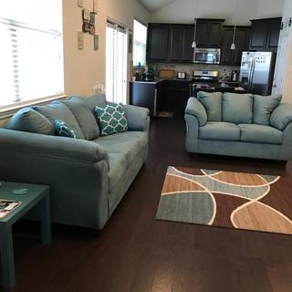 Sofa and love seat make the perfect set
