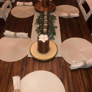 Rustic decor on my new table