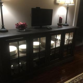 Dining Server with lights installed