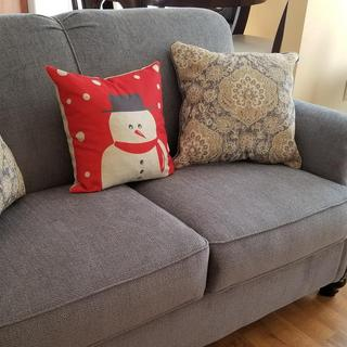 Loveseat. Very comfy and pretty but cause so much static. I hate that