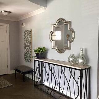 Mirror from Ashley Furniture in entryway