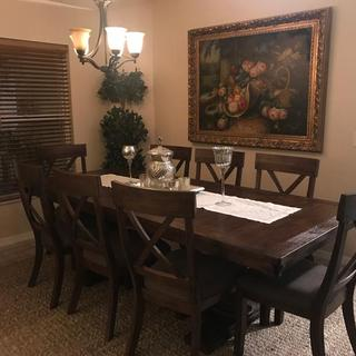 My new Windville dining table and chairs are exquisite.  They are everything I was hoping for to make my holidays perfect for my family. The drivers were courteous, and professional and my whole experience with Ashley Furniture was awesome! Thank you!