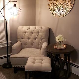 Bedroom reading spot.
