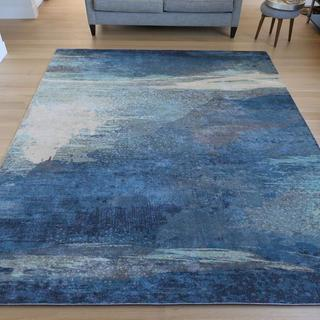 Very vibrant Surya rug, definitely more vibrant than as seen online!