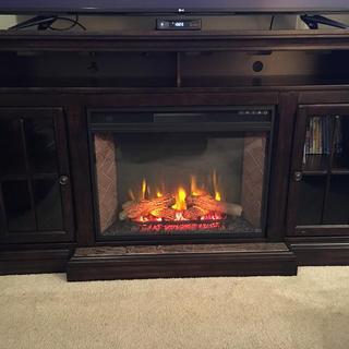 74' Roddington TV Stand w/ Fireplace