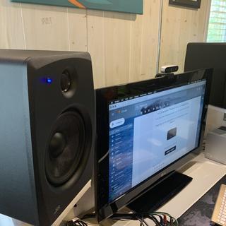 """SR 8"""" monitors in my home studio"""