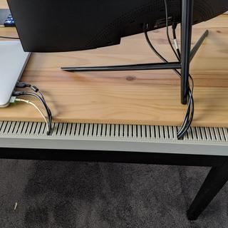Easy to cut and mount to the back of my desk. Hides my desk cables perfectly!