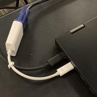 USB-C to VGA, plugged into a Lenovo L380 Yoga