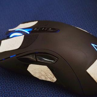 I used Lizard Skin grip tape to keep the mouse clean.
