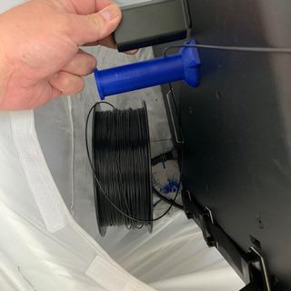 Spool holder limits size of filament spools; my 1KG spools no longer fit.