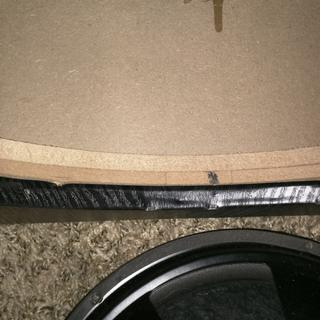 Baffle board thickness.