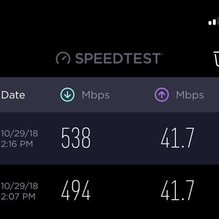 Upgraded from Cat 5e and added 44mbps and has been more reliable!