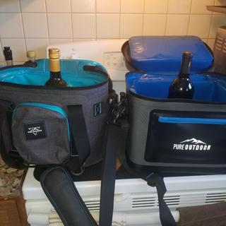 Comparison to Cooler 18  Someone had asked if you could stand up a bottle of wine in either