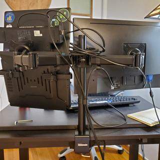 """Even though my wires are not sightly, it works great for a new """"home office"""" environment!"""