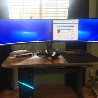 A pair of monitors.