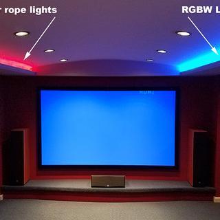 New Home Theater cove lighting.