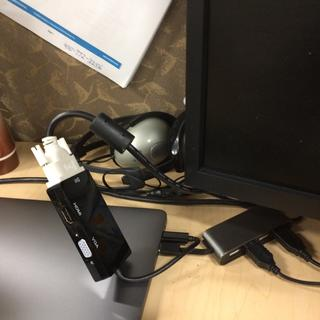 Here's how I'm using it. It's connected to the MacBook Pro lightning jack and to a monitor via DVI.