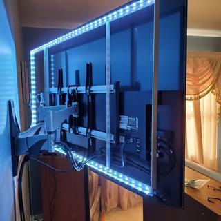 The completely mounted light framework