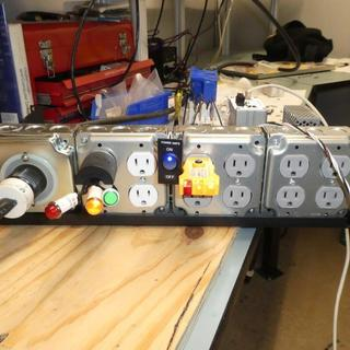 Rear outlets for amps and anciliary equipment