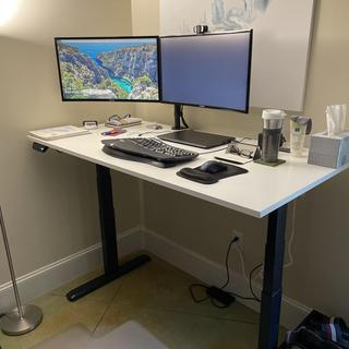 Desk is quiet and quick to stand position.   3 memory positions makes life a breeze.