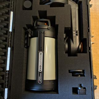 "Foam all plucked and Celestron Nexstar Evolution EdgeHD 8"" Telescope in the box."